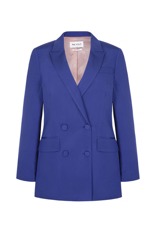 Almeida Jacket Royal Blue Heavy Silk 2