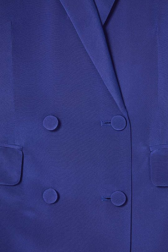 Almeida Jacket Royal Blue Heavy Silk 4