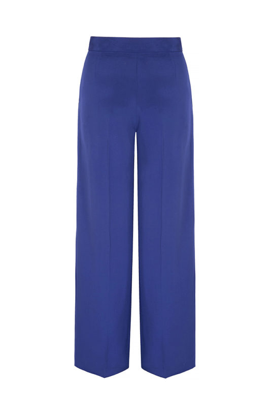 Almeida Trousers Royal Blue Heavy Silk 3