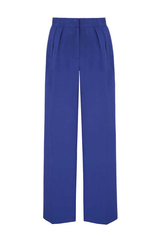 Almeida Trousers Royal Blue Heavy Silk 2