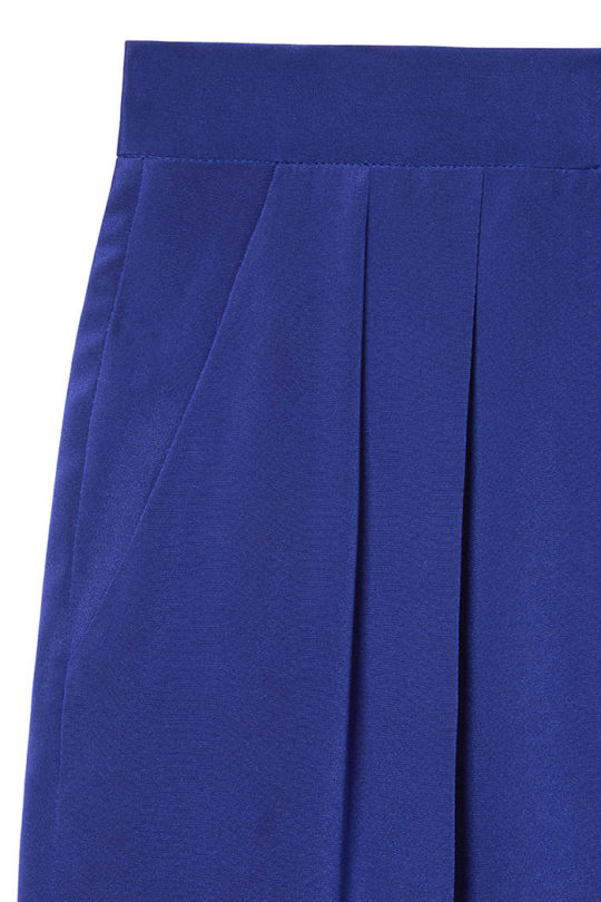 Almeida Trousers Royal Blue Heavy Silk 4