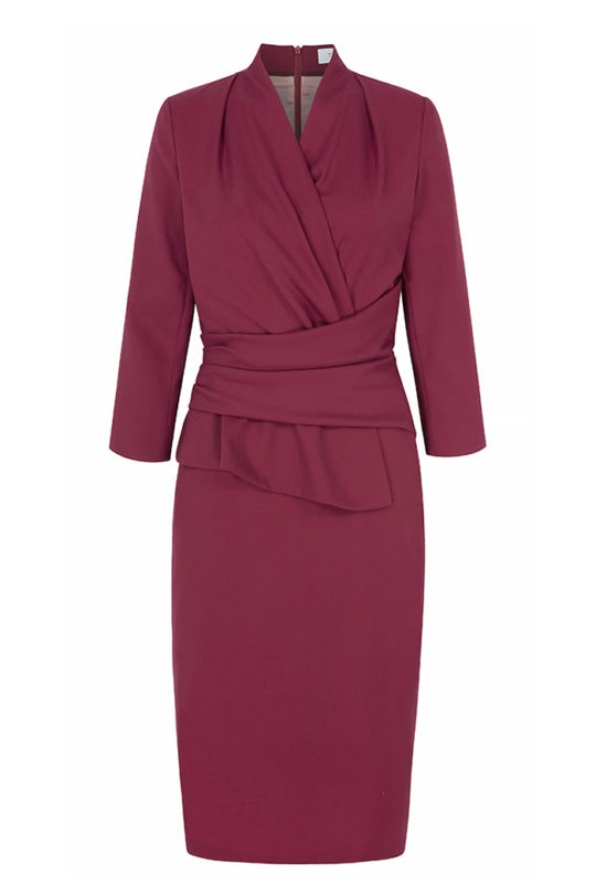 Arlington Dress Magenta Wool