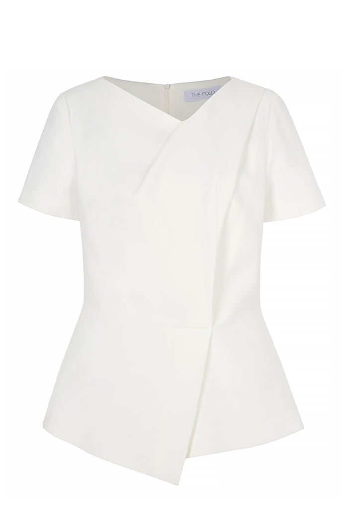 Boswell Top White Crepe
