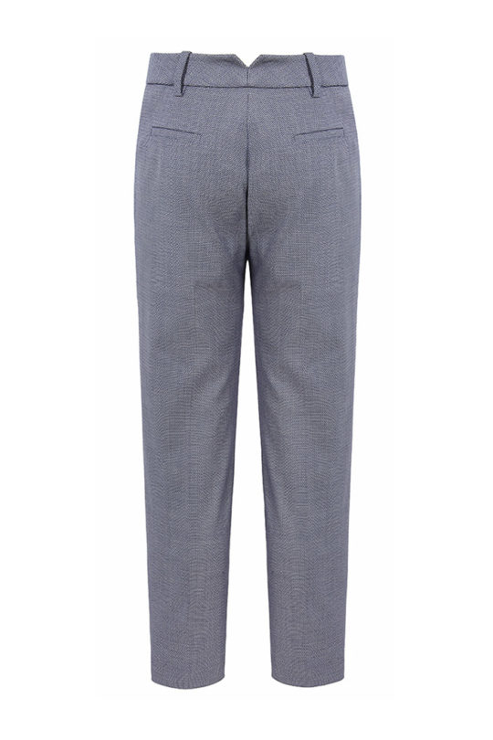 Delvino Trousers Blue Jacquard 3