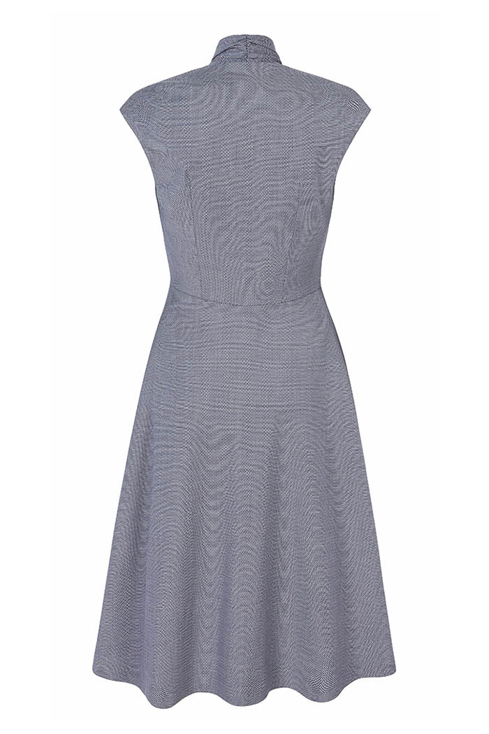 Hampton Dress Blue Jacquard
