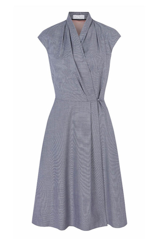 Hampton Dress Blue Jacquard 2