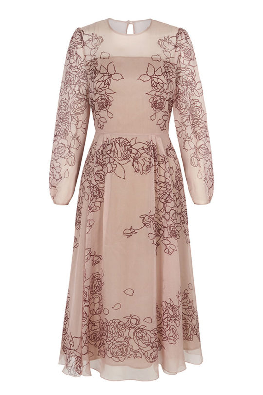 Rosemoor Dress Blush Pink Silk Chiffon