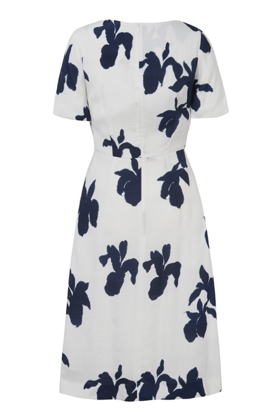 Somerby Dress Ivory Iris Print 3