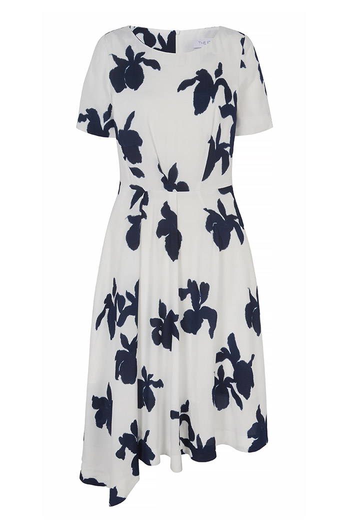Somerby Dress Ivory Iris Print