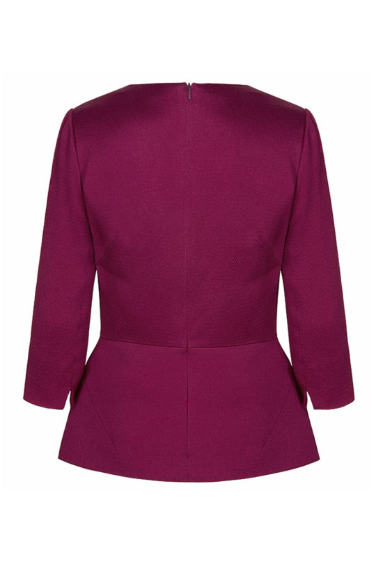 Belmore Top Dark Magenta Textured Satin 3