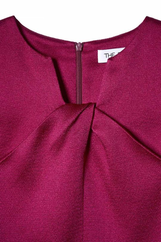 Belmore Top Dark Magenta Textured Satin 4