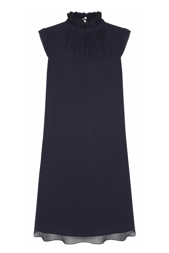 Ellerby Dress Navy Crinkle Georgette