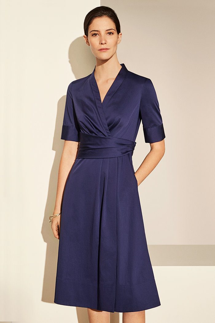 Leigh Dress Blue Cotton Poplin