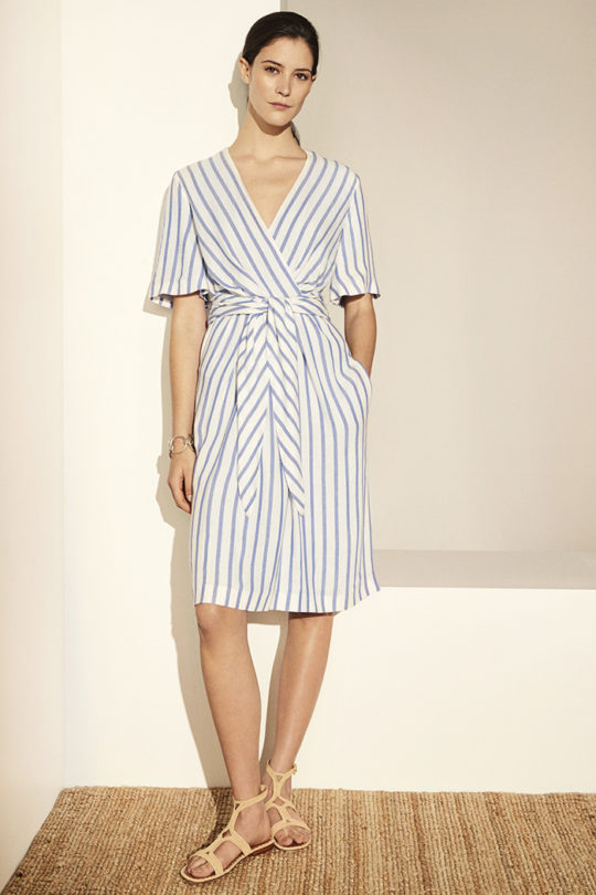 Cornwall Dress Blue Stripe