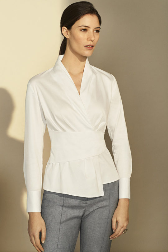 Falkner Shirt White Cotton Poplin