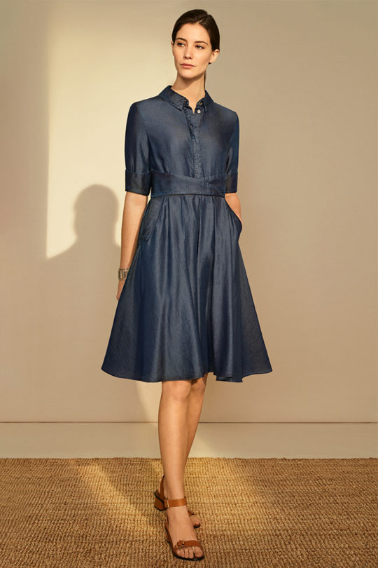 Glengall Dress Indigo Tencel