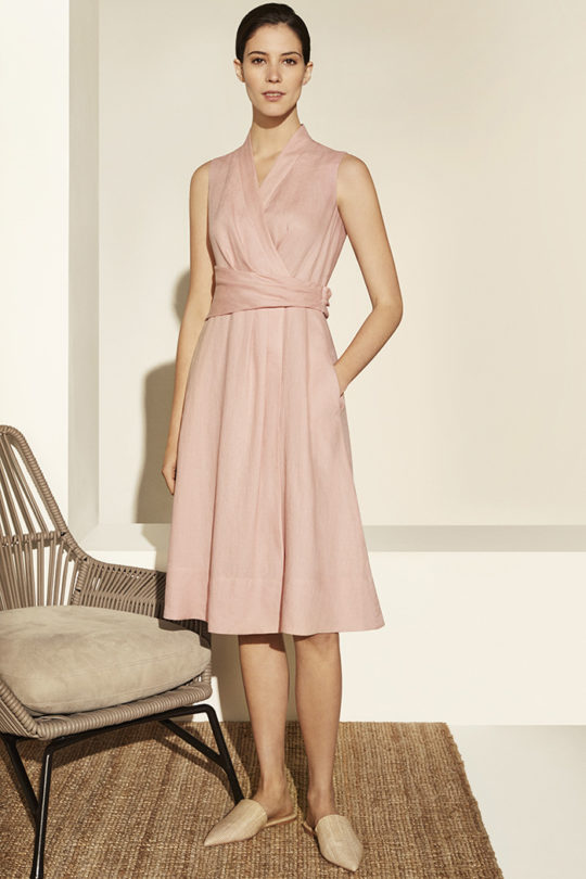 Astell Dress Blush Pink Linen 5