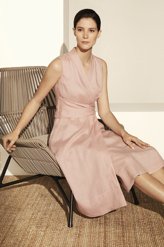 Astell Dress Blush Pink Linen