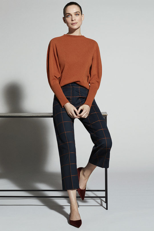 ASTWOOD CULOTTES TOFFEE AND NAVY CHECK DT032