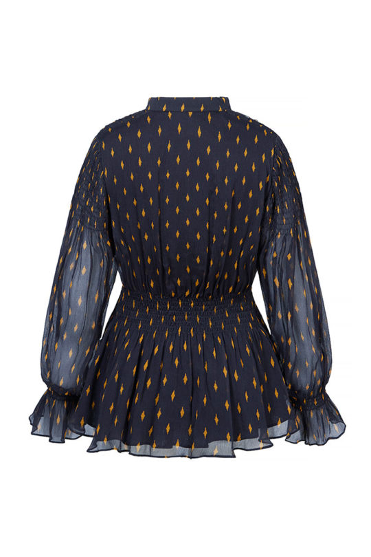 VERBANIA_BLOUSE_NAVY_CRINKLED_GEORGETTE_BACK