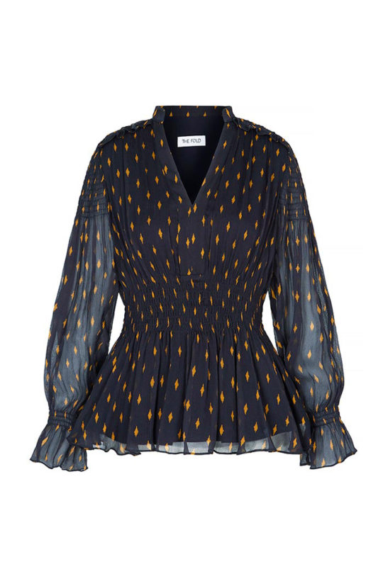 VERBANIA_BLOUSE_NAVY_CRINKLED_GEORGETTE_FRONT