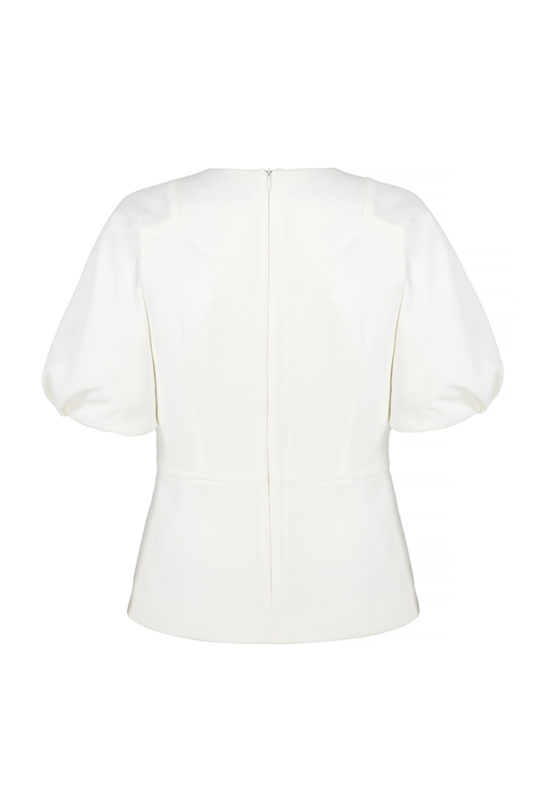 Balerna Top Ivory Textured Crepe 3