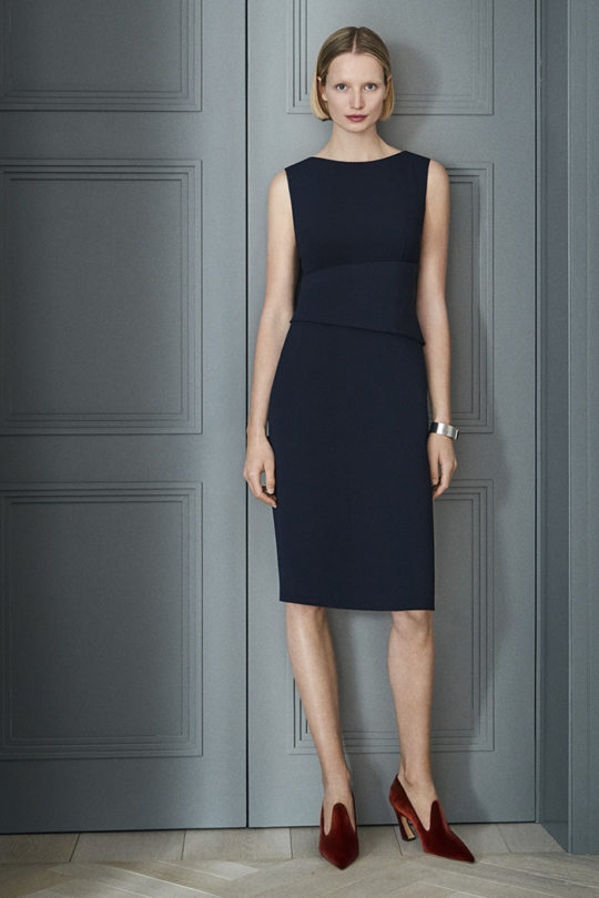Berkeley Dress Sleeveless Navy Crepe 1