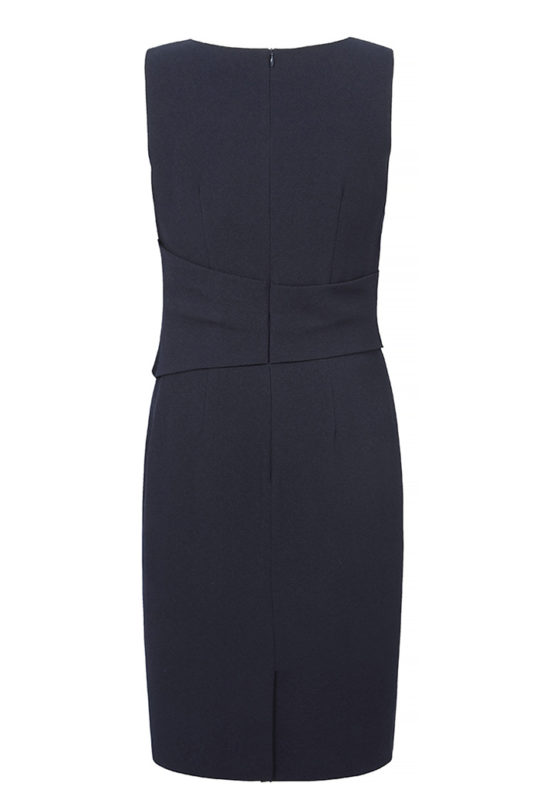 Berkeley Dress Sleeveless Navy Crepe 3