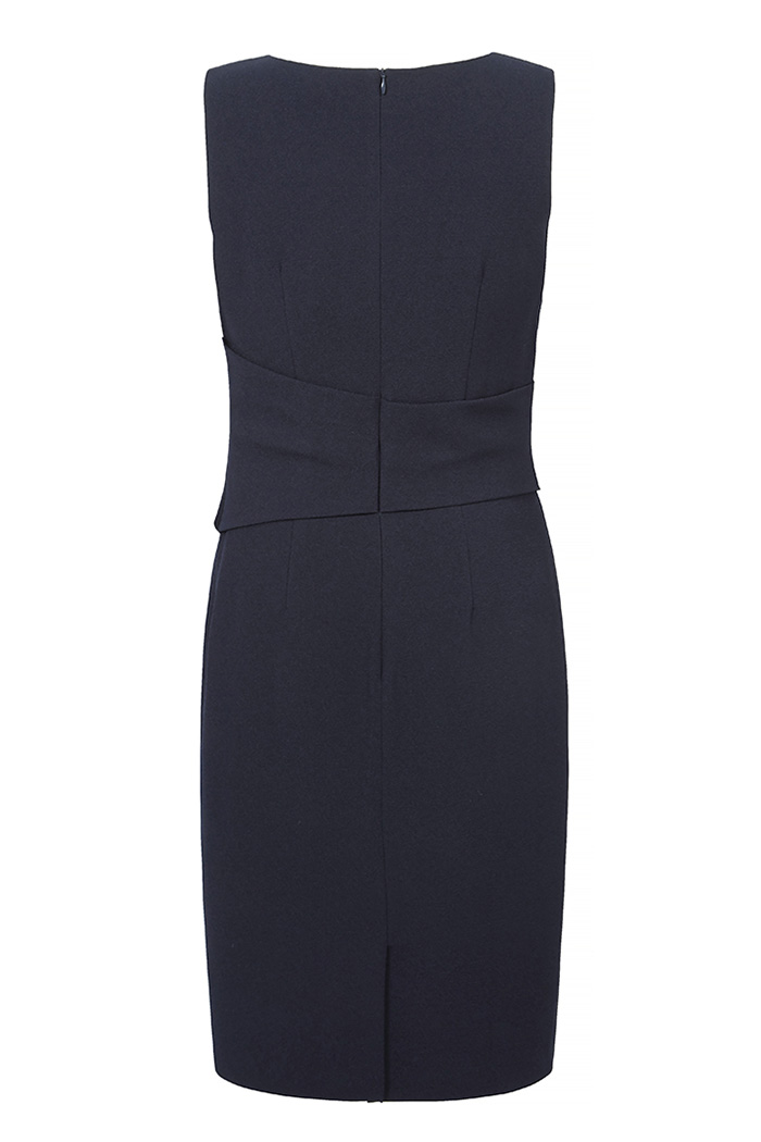 Berkeley Dress Sleeveless Navy Crepe