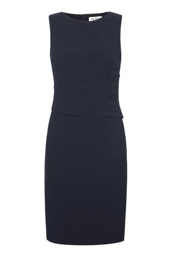 Berkeley Dress Sleeveless Navy Crepe 2