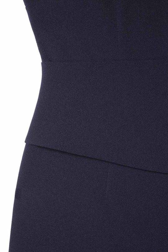 Berkeley Dress Sleeveless Navy Crepe 4