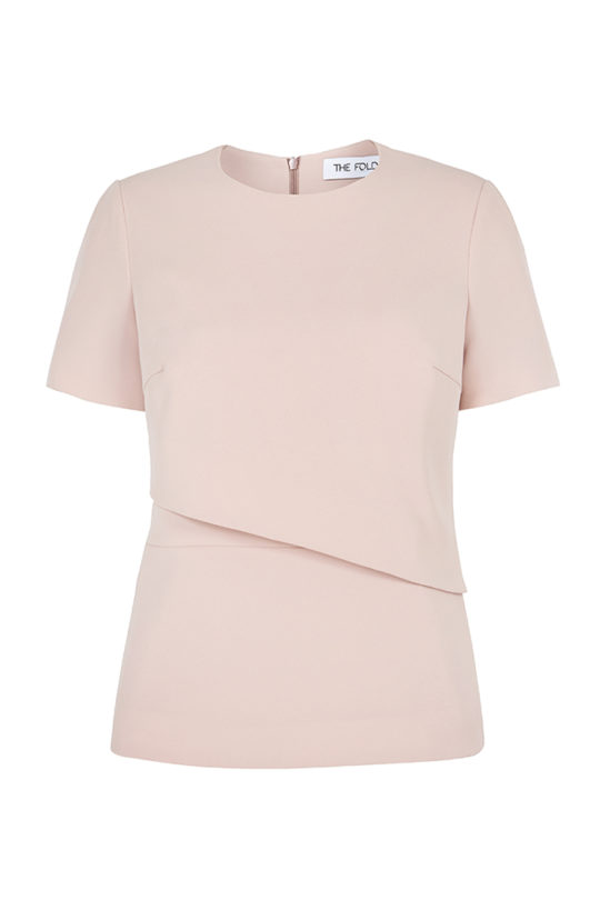 Langan Top Blush Pink Crepe