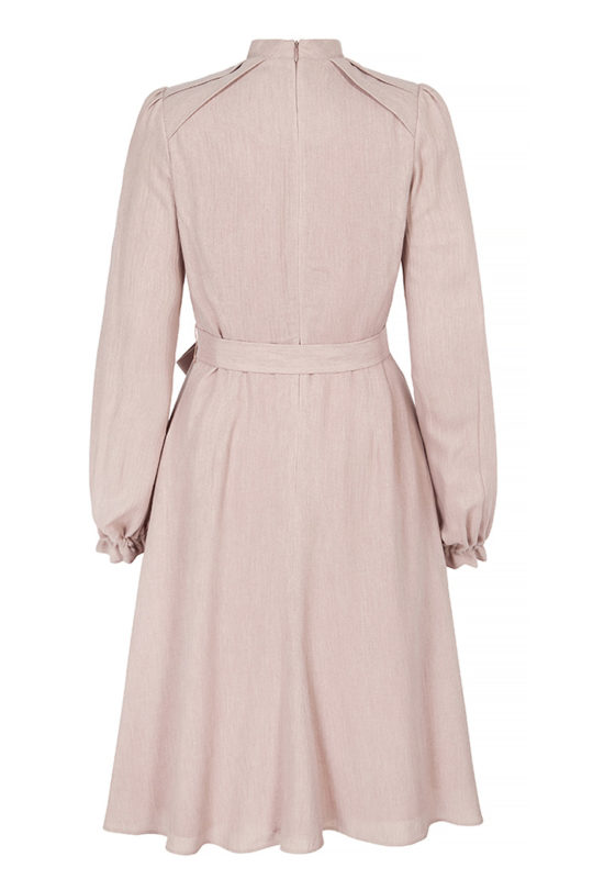 Haslemere Dress Blush Herringbone 3