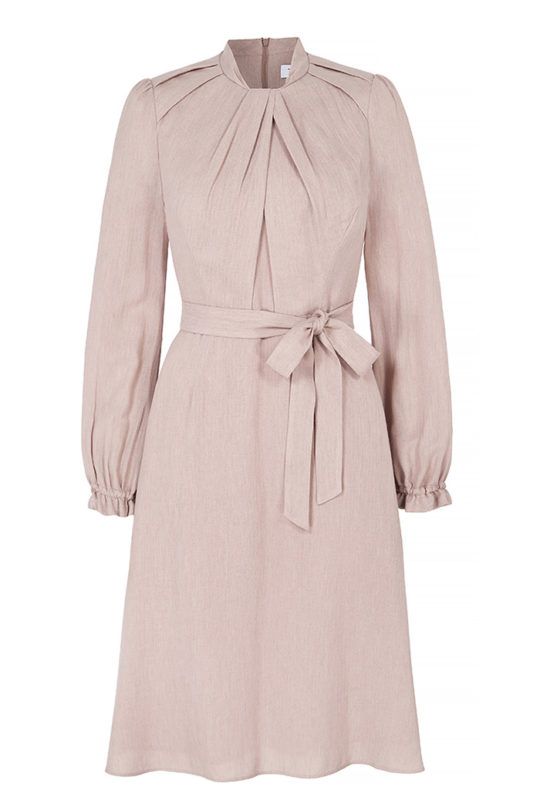 Haslemere Dress Blush Herringbone 2