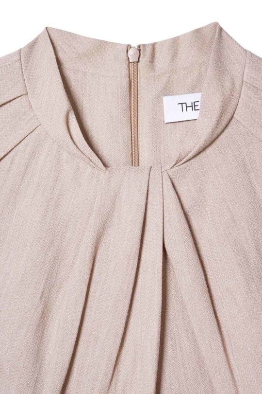 Haslemere Dress Blush Herringbone 4
