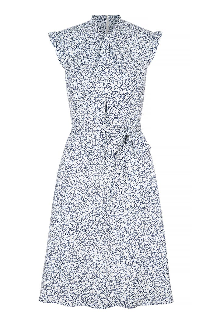 Laglio Dress Ivory Print Viscose