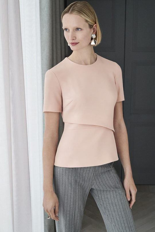 Langan Top Blush Pink Crepe 1