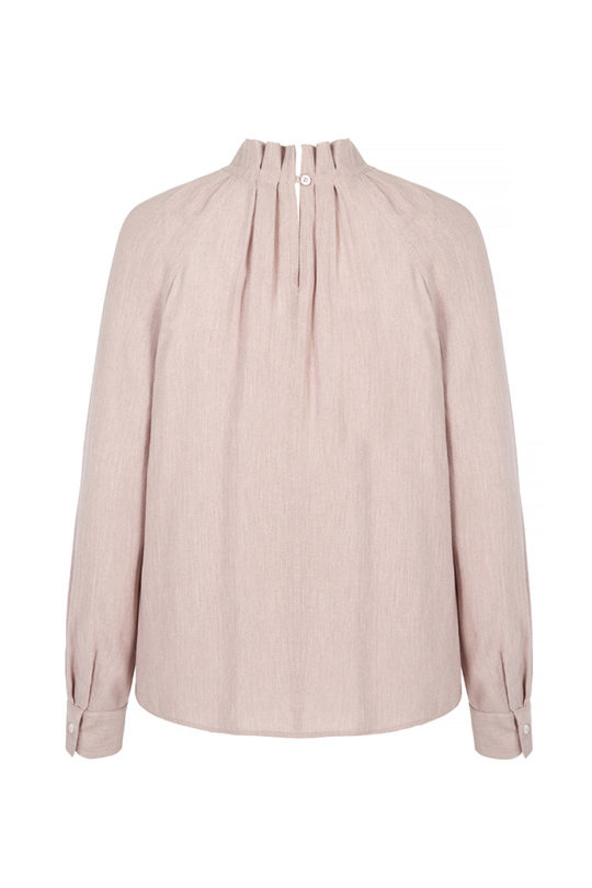 Charfield Blouse Blush Herringbone 3