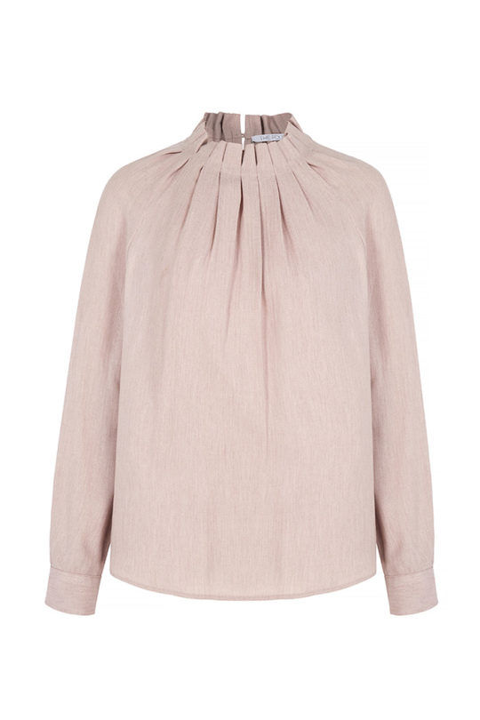 Charfield Blouse Blush Herringbone 2