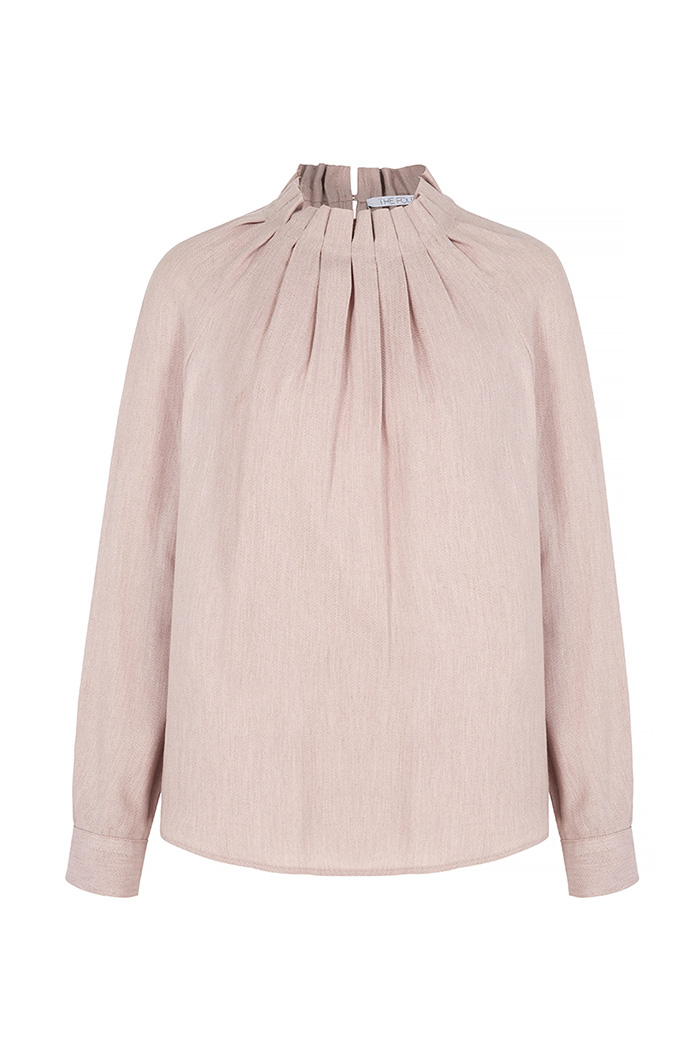 Charfield Blouse Blush Herringbone