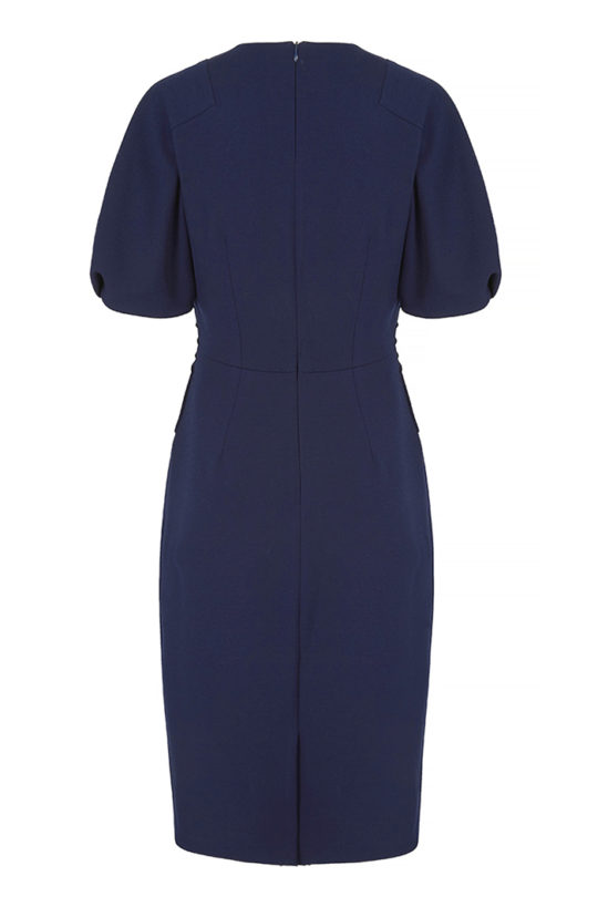 Lowndes Dress Indigo Crepe 3