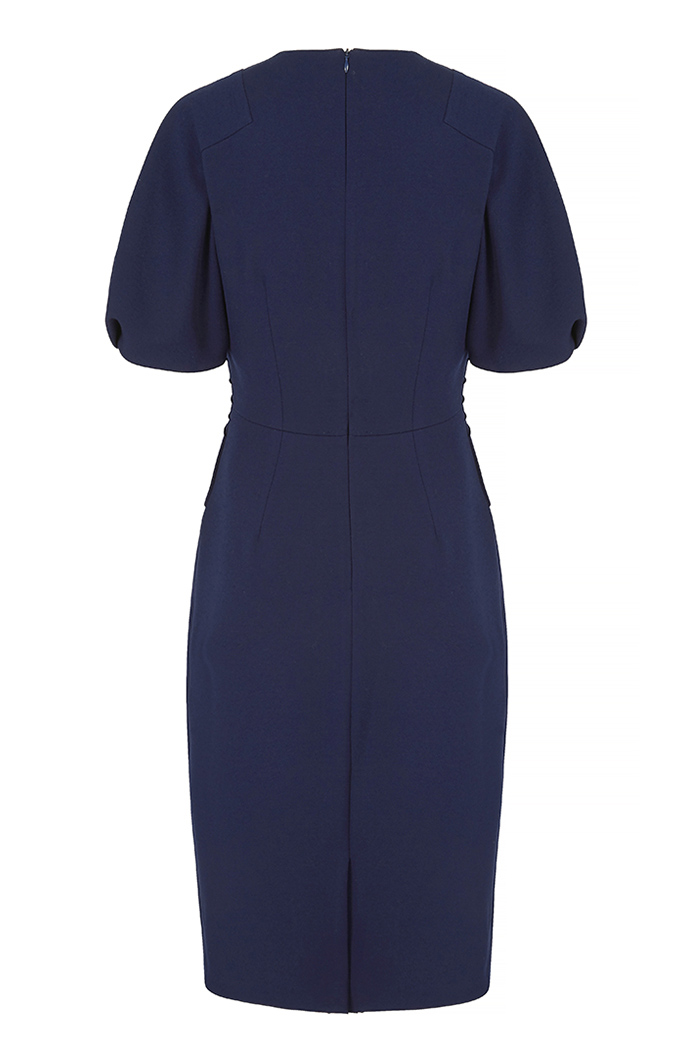 Lowndes Dress Indigo Crepe