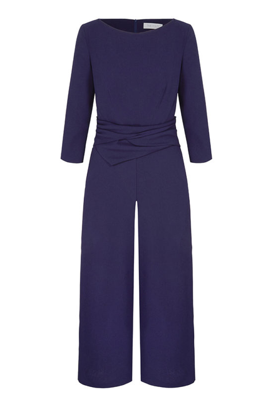Lugano Jumpsuit Dark Blue Stretch Crepe