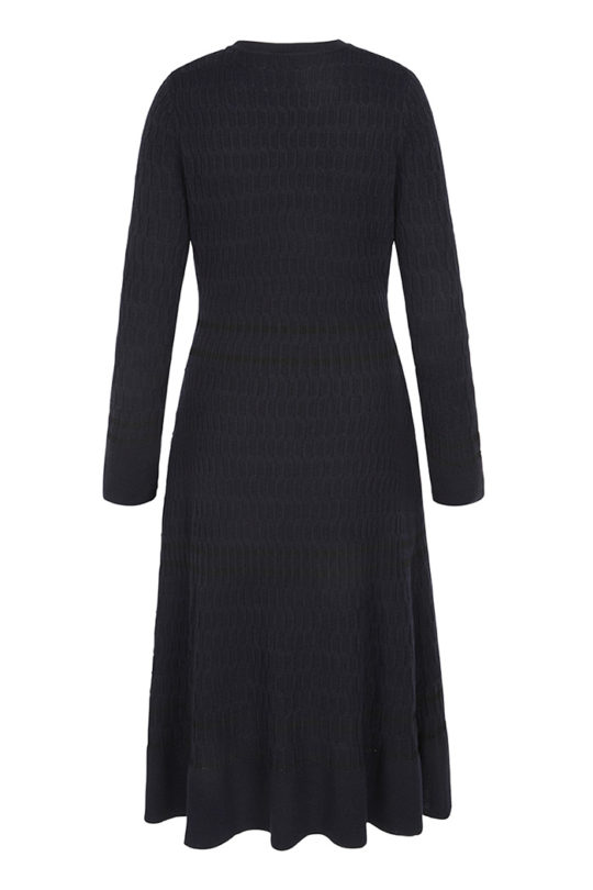 Knightly Dress Navy Merino 3