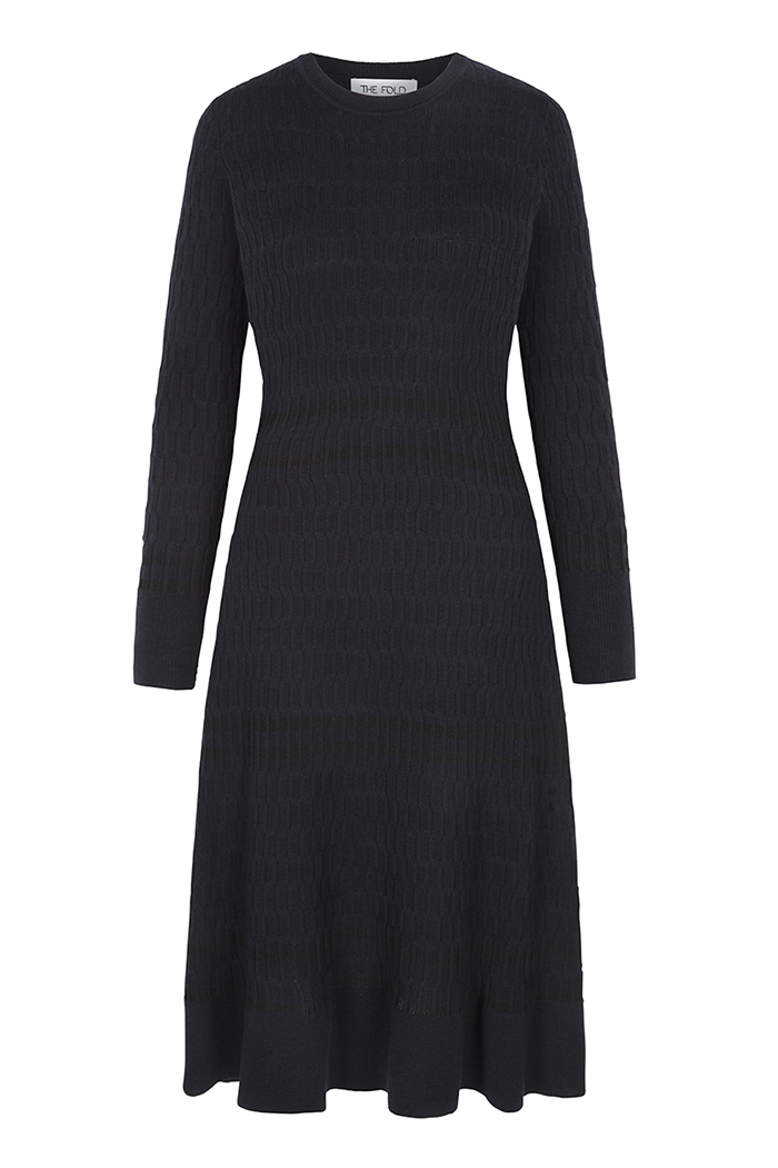 Knightly Dress Navy Merino 2