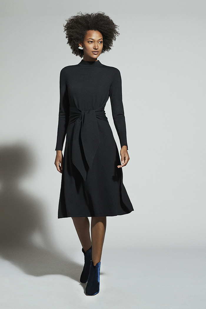Allerton Dress Black Merino