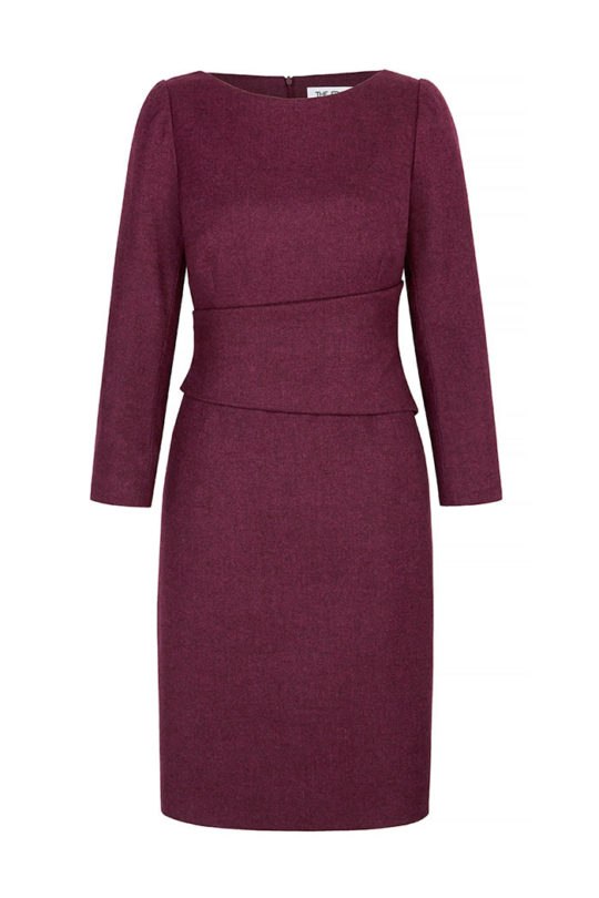 Berkeley Dress Fuchsia Wool Tweed