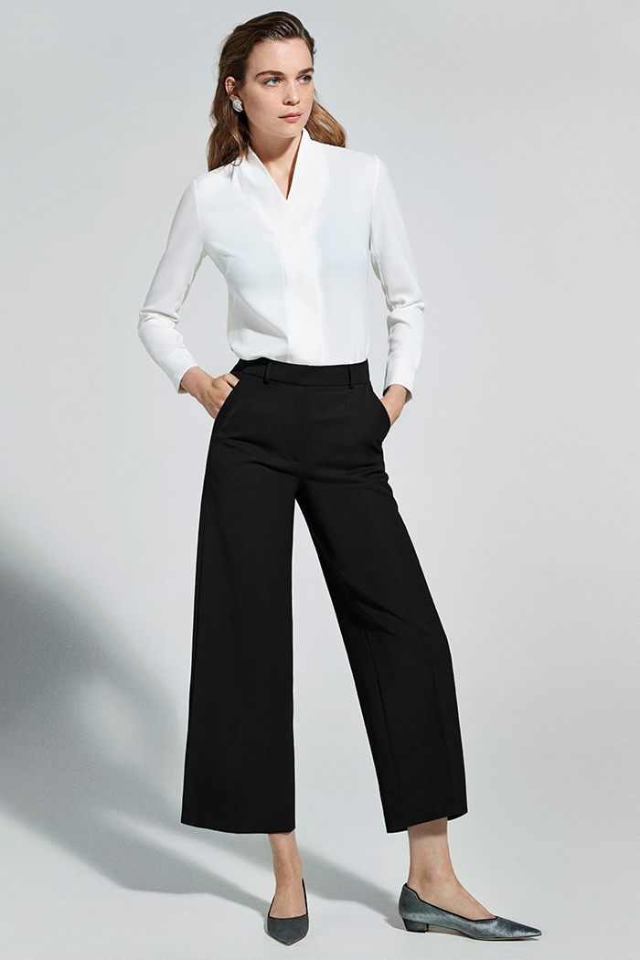 EC1 Tailored Culottes Black