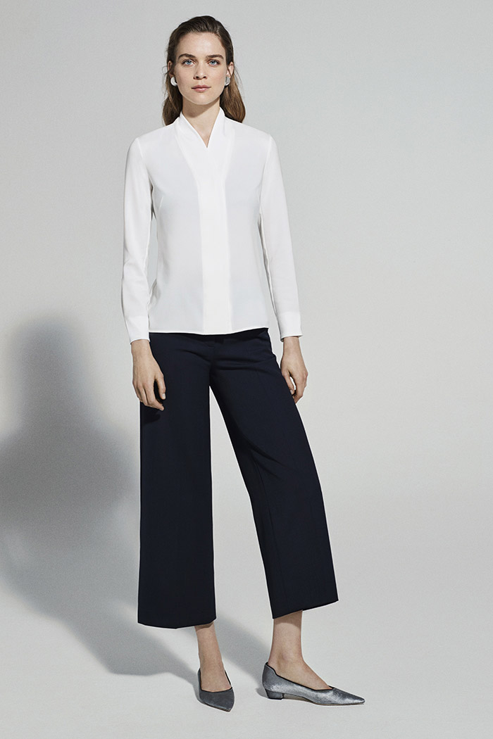 EC1 Tailored Culottes Navy