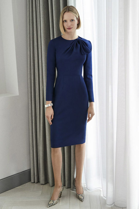 Cliveden Dress Indigo Wool Crepe 1